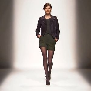DIESEL high waisted military green shorts stretch